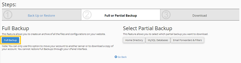 Cara Backup cPanel via FTP Backup Transfer